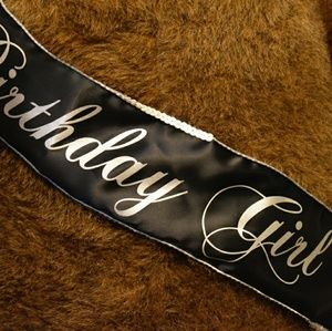Accessories - Black and Silver Sequins Birthday Girl Sash